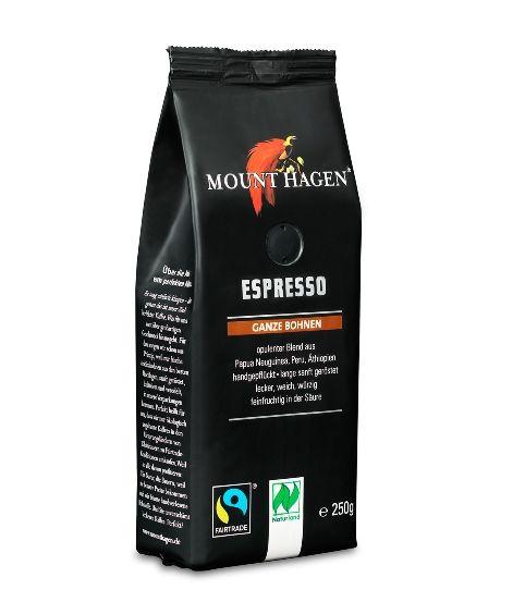 Fairtrade Espresso Mount Hagen ganze Bohne