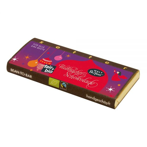 Weltpartner Weihnachtsschokolade Nougat bio und fair
