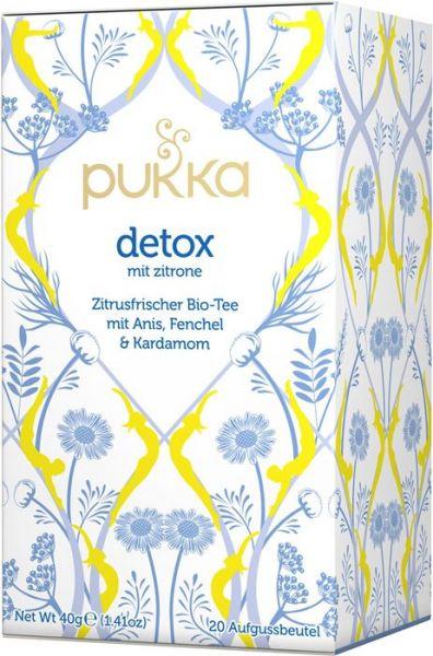 Pukka Tee Detox mit Zitrone