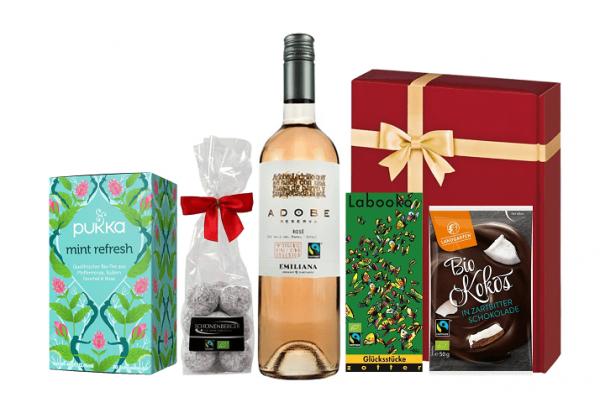 Fairtrade Geschenkset Fair Einkaufen bordeaux