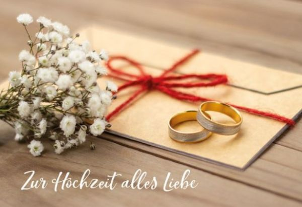 FairMail Glückwunschkarte Zur Hochzeit