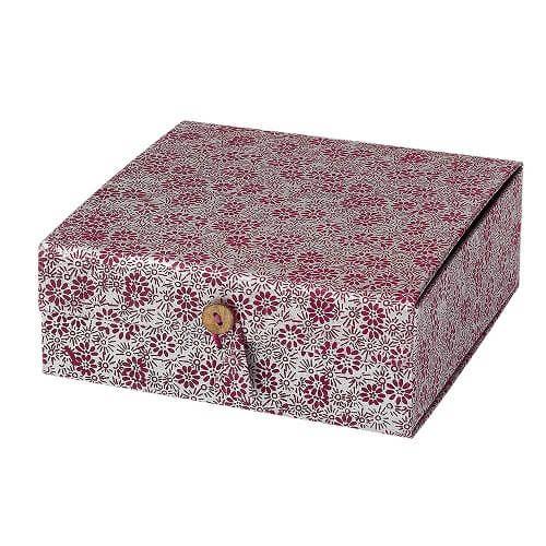 Geschenkbox lila blume handgeschöpftes papier