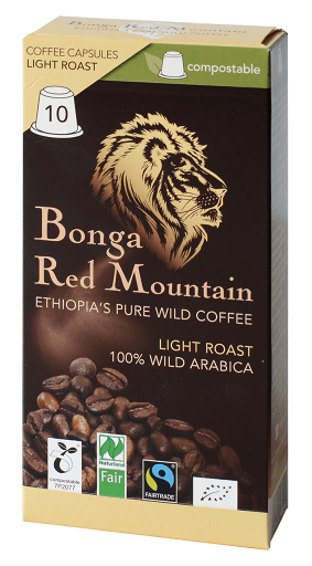 kaffeekapsel bonga red mountain light roast