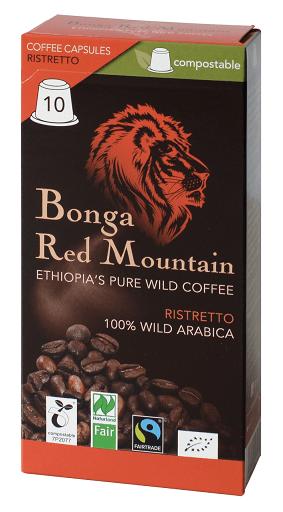 Bonga Red Mountain Ristretto Kapseln kompostierbar