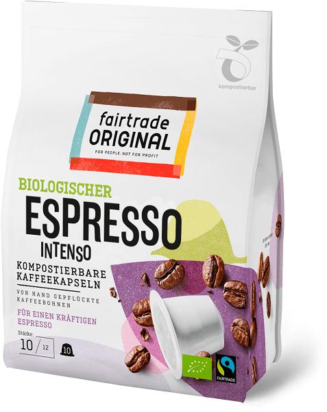 fair trade original espressokapseln intenso kompostierbar