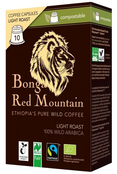 Kompostierbare Kapseln Light Roast Bonga Red Mountain
