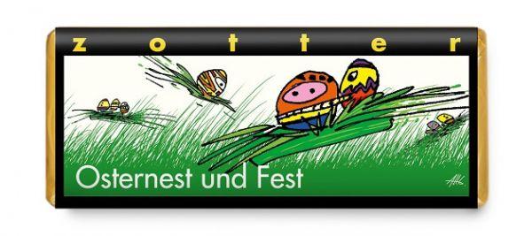 Zotter Schokolade Osternest und Fest
