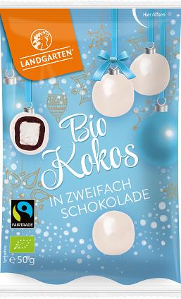 Landgarten Bio Kokos in zweifach Schokolade