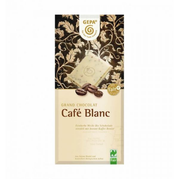 Gepa Bio Schokolade zartbitter kaffee weiß