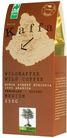 Kaffa Fairtrade Wildkaffee medium gemahlen