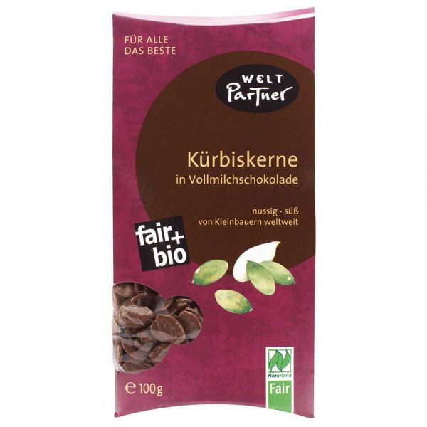 Kürbiskerne in Vollmilchschokolade