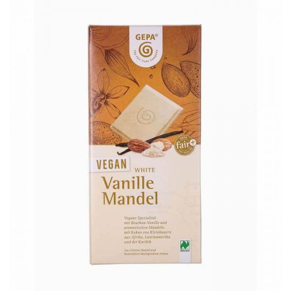 Gepa Bio Schokolade vegan weiß vanille mandel