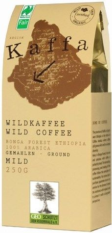 Kaffa Fairtrade Wildkaffee mild gemahlen