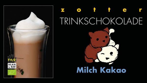 Zotter Trinkschokolade Milch Kakao 1