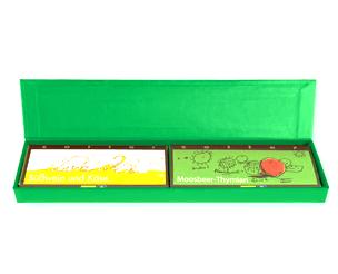 Zotter Geschenkverpackung Duo grün 1