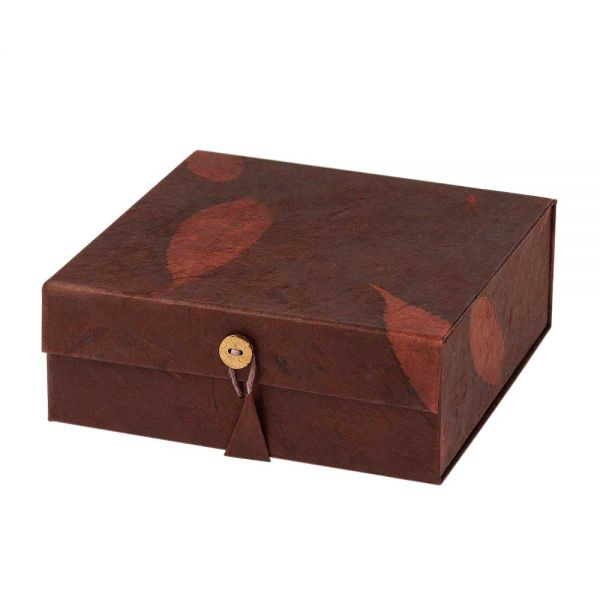Geschenkbox braun handgeschöpftes papier