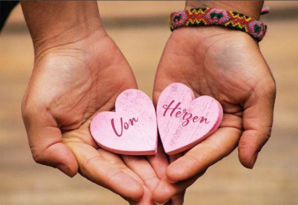 FairMail Glückwunschkarte von Herzen