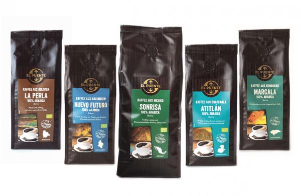Kaffee Spezialitäten Lateinamerika ganze Bohne