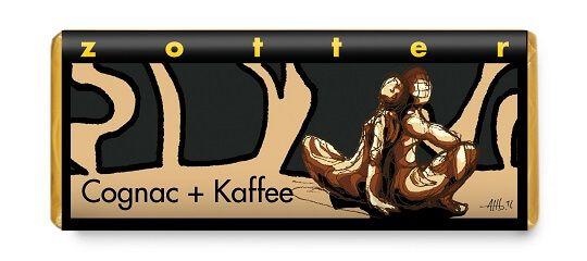 zotter handgeschöpfte schokolade cognac kaffee