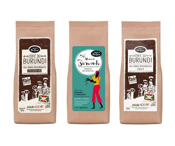 Weltpartner cafe burundi 3er set gemahlen