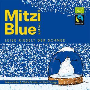 Fairtrade Schokolade Zotter Mitzi Blue Leise rieselt der Schnee