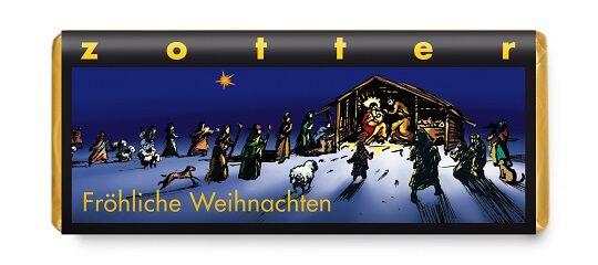 Fairtrade Schokolade Zotter Fröhliche Weihnachten