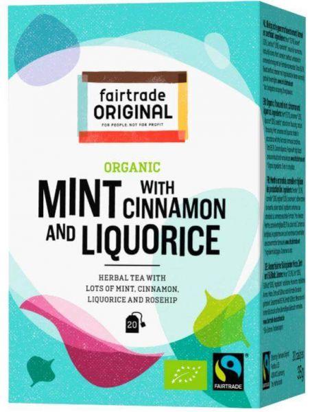 fairtrade original tee minze zimt