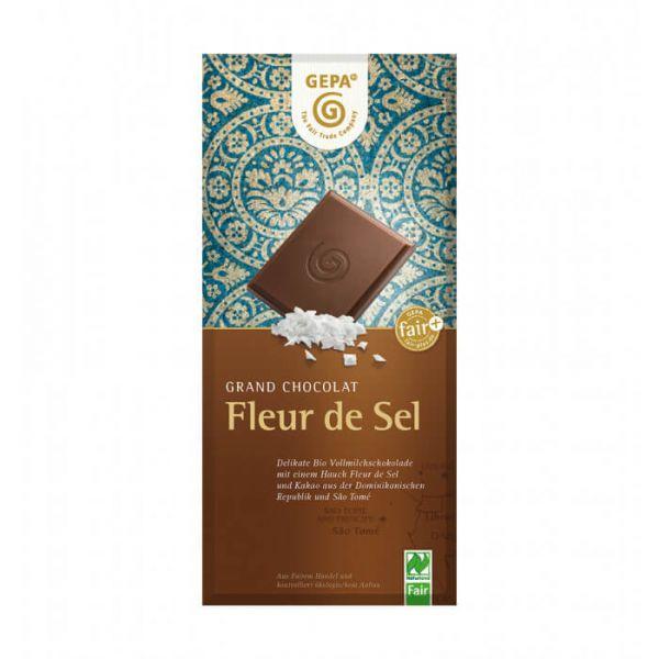 Gepa Bio Schokolade Vollmilch fleur de sel
