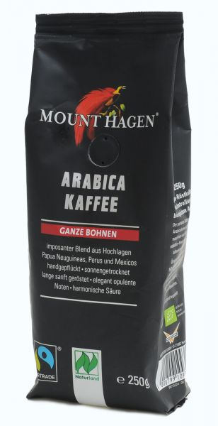 Fairtrade Röstkaffee ganze Bohne Mount Hagen