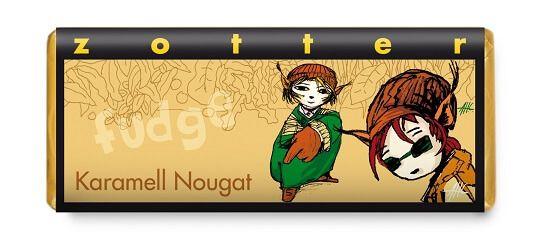 Fairtrade Schokolade Zotter Karamell Nougat