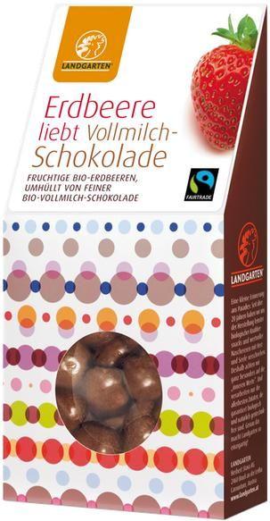 Fairtrade Schokolade Landgarten Erdbeere Vollmilchschokolade