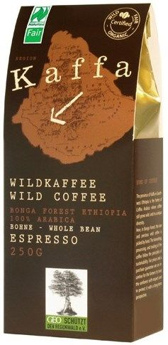 Kaffa Fairtrade Wildkaffee Espresso ganze Bohne