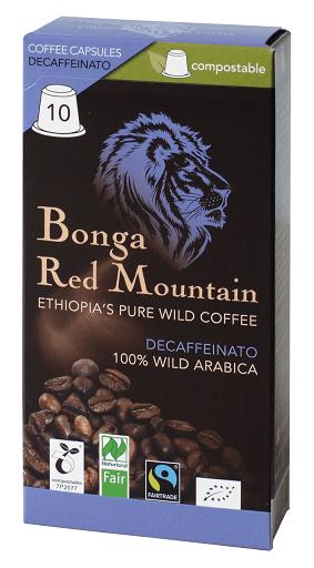 Bonga Red Mountain Kaffeekapsel entkoffeiniert