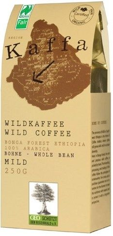 Kaffa Fairtrade Wildkaffee mild ganze Bohne