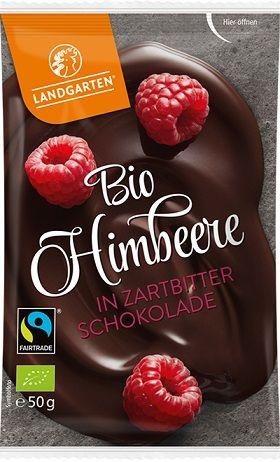 Fairtrade Schokolade Landgarten Himbeere Zartbitter