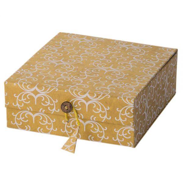 Geschenkbox gold handgeschöpftes papier