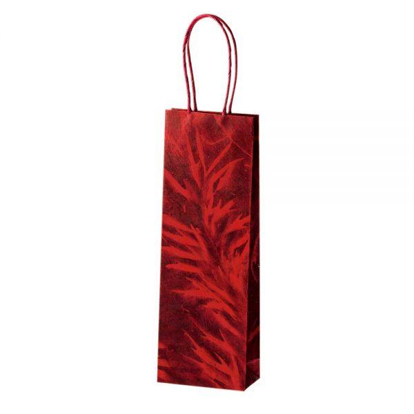 Geschenktasche Weinflasche rot