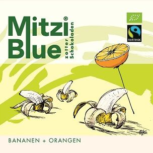 Fairtrade Schokolade Zotter Mitzi Blue Orange Banane1