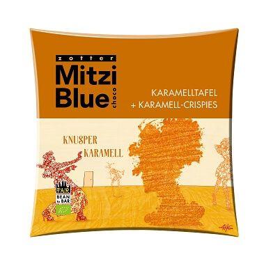 Fairtrade Schokolade Zotter Mitzi Blue Knusper Karamell