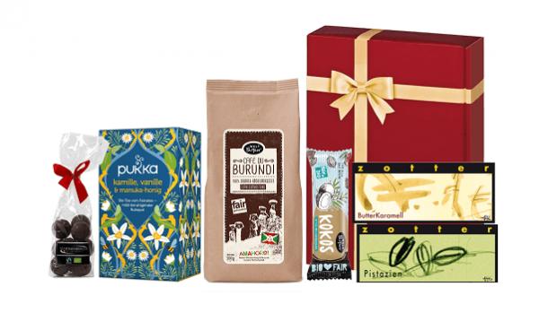 geschenkset alles gute bio fairtrade produkte
