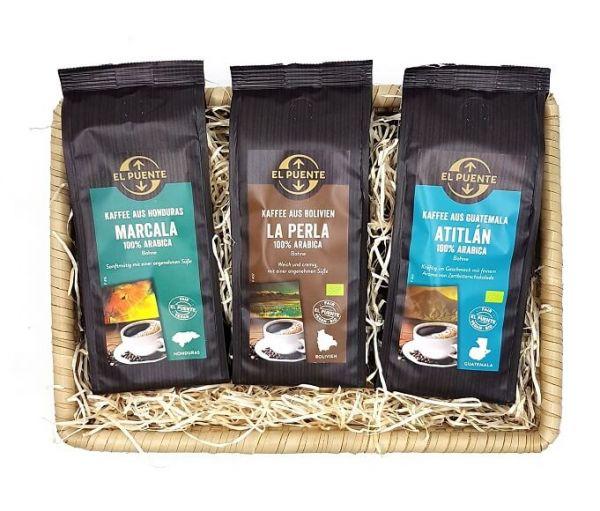 geschenkkorb kaffee lateinamerika el puente