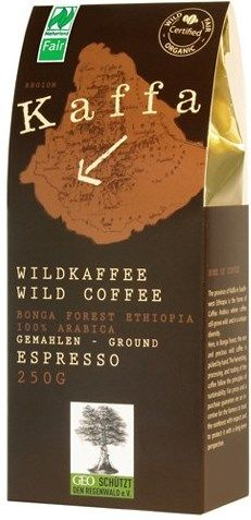 Kaffa Fairtrade Wildkaffee Espresso gemahlen