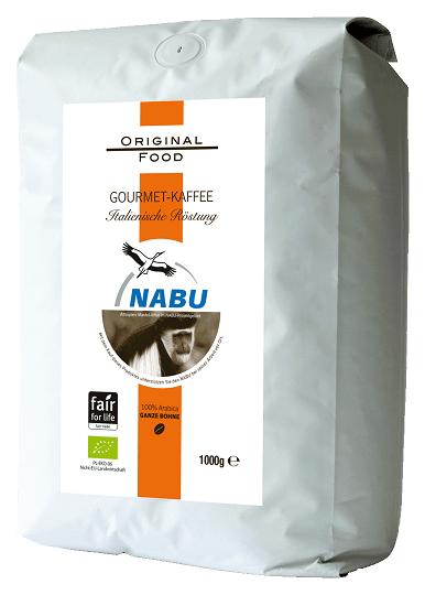 Original Food Nabu Kaffee ganze Bohne 1kg