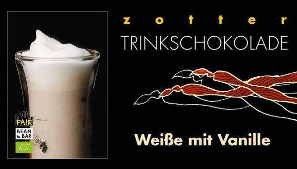 Zotter Trinkschokolade Weiße mit Vanille 1