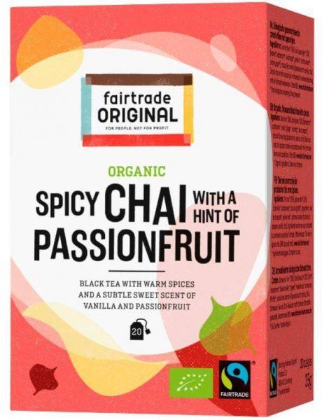 fair trade original chai tee vanille passionsfrucht