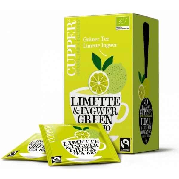 Cupper Grüner Tee Limette Ingwer