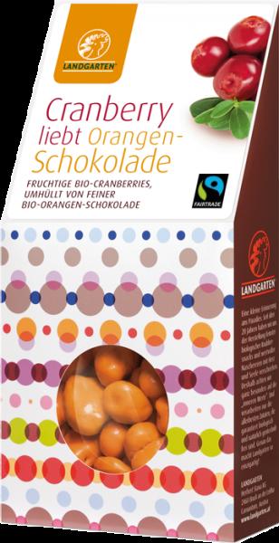 Fairtrade Schokolade Landgarten Cranberry Orangenschokolade