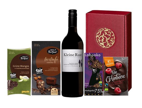 geschenkset zartbitter bio fairtrade produkte