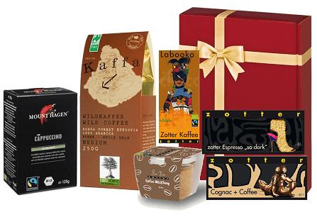 Fairtrade Geschenkset Kaffee bordeaux