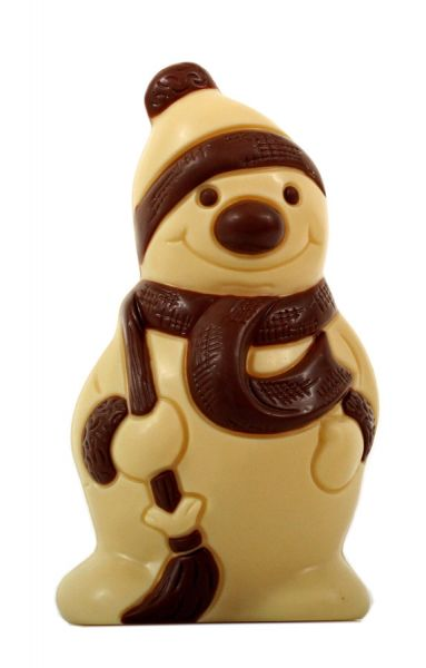 Schönenberger Schneemann mit Zipfelmütze weiße Schokolade
